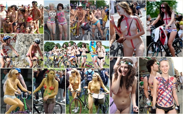 World Naked Bike Ride 2010 #1