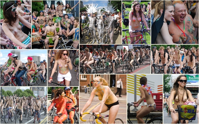 World Naked Bike Ride UK 2009 #1